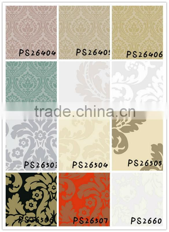 Bathroom wall papers/designer wall coverings/Cheap pvc vinyl murals PS26505(self adhesive easy installation