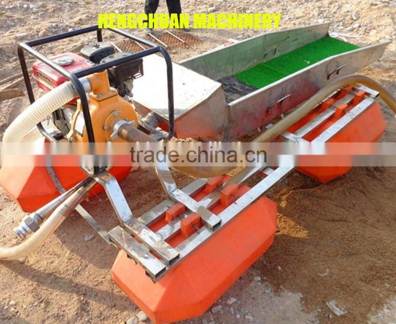 2016 New Technology 3 Inch Mini Portable Small Gold Mining Pontoon Dredger for Sale