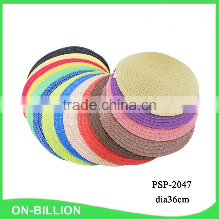 Cheap bulk PP woven waterproof plastic round table placemat