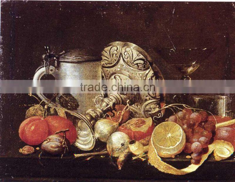 Still Life Oil Painting Fruit and Tableware