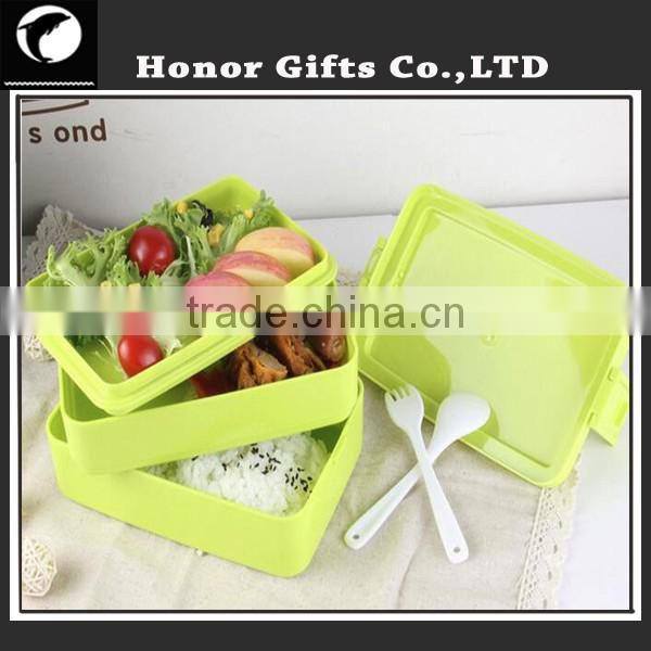 Best Selling 3 Compartment Plastic Fashionable Lunch Box