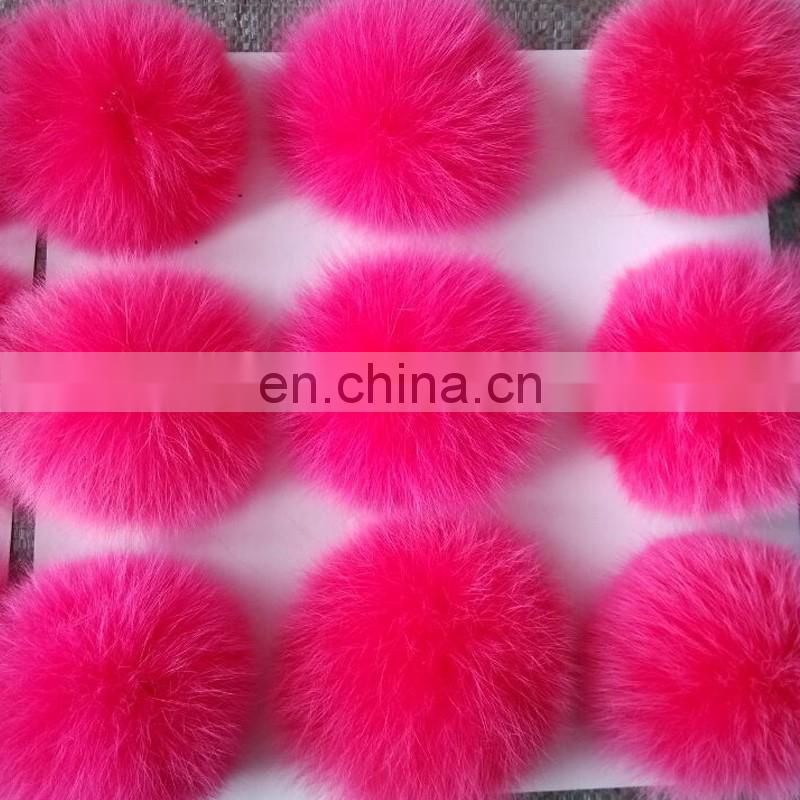 Hand made large fox fur ball for garment/shoes/hat/keychain decoration