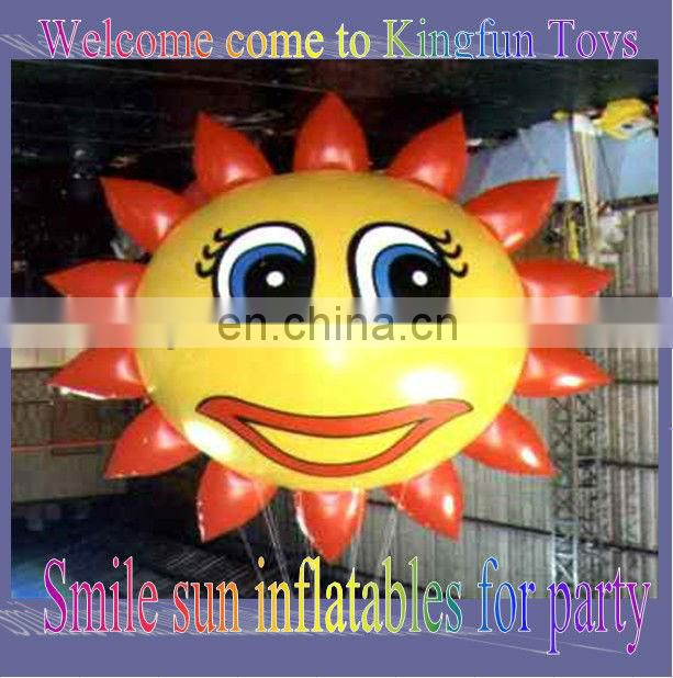 Smile sun atable balloon for party