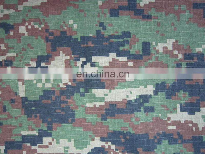digital woodland rip-stop camouflage fabric