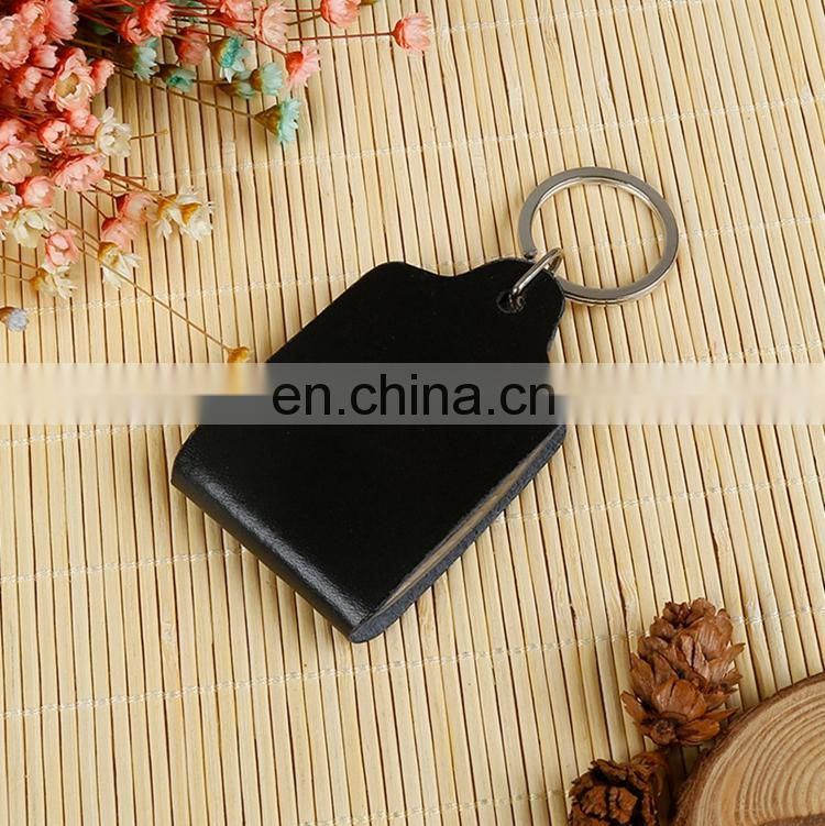 Factory customized popular superior genuine leather keychain