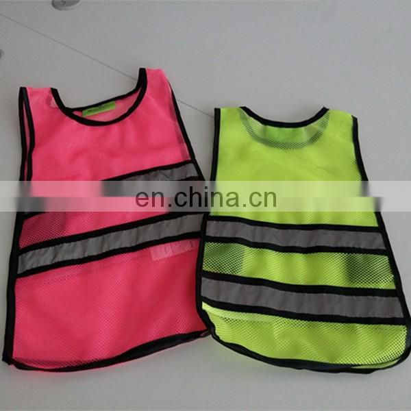 High reflective cheap safety vest china manufacture kids clothing