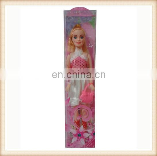 "11"" plastic toy modern gaudery girl doll"