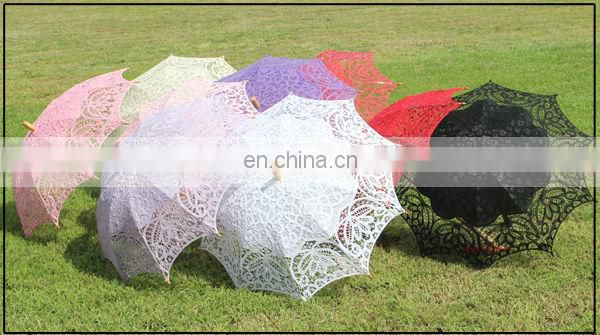 A0215 Stock In Market Pure White Lace Umbrella Used Wedding Decorations For Sale