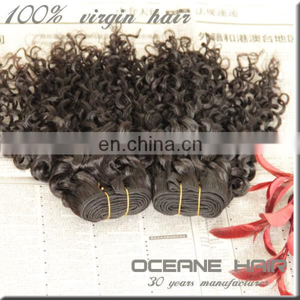 Hot selling ,new style beautiful style 100% unprossed virgin real human indian curly hair