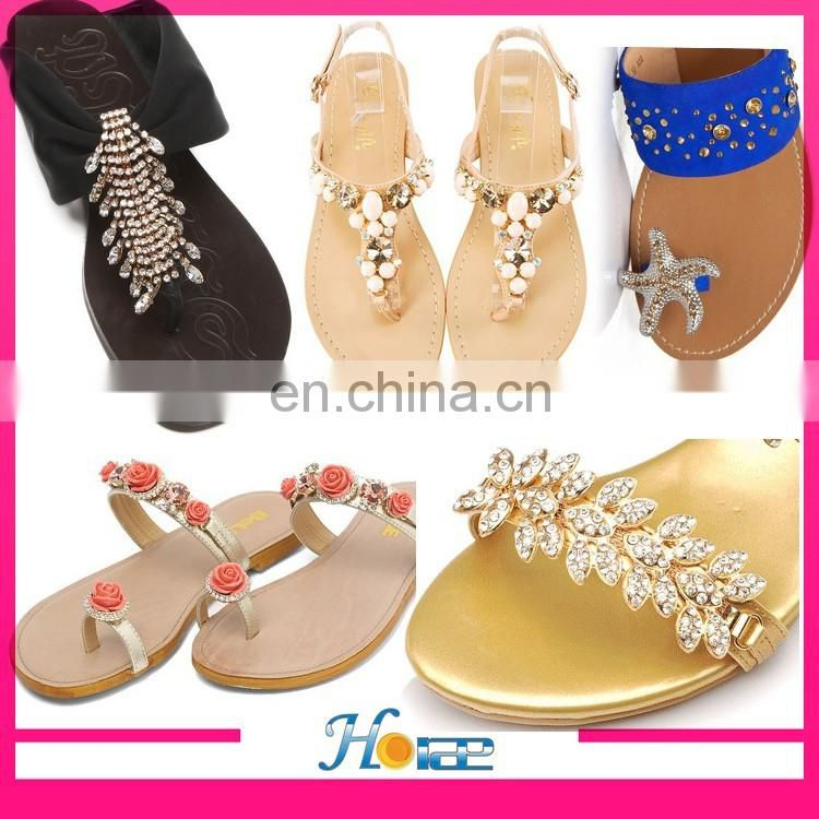New arrival Sandal accessories Shoe Chain Decoration Rhinestone Decorations For Shoes