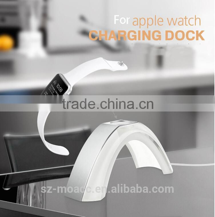 Aluminum and acrylic material Rainbow for Apple Watch Stand,Aluminum Display For Apple Watch Charger Stand