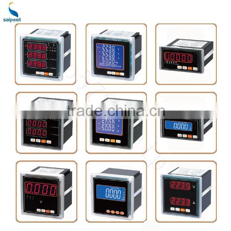 SAIPWELL/SAIP 80x80 Electrical Instrument LCD Display Three Phase Multi-rate and Harmonic Wave Energy Meter