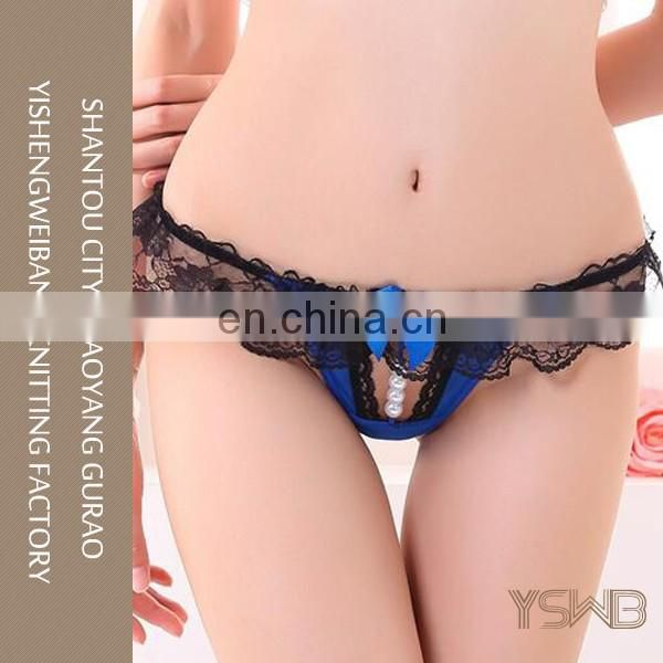 China manufacture ladies blue girl sexy image panty with innovation