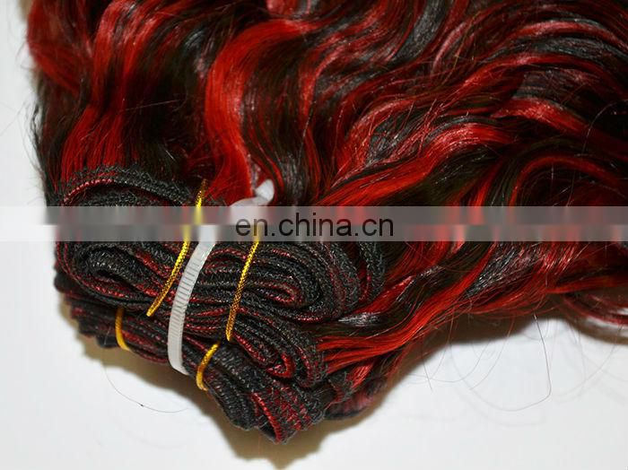 Place more than 20 pieces and offer you one piece hair wholesale synthetic weave for free