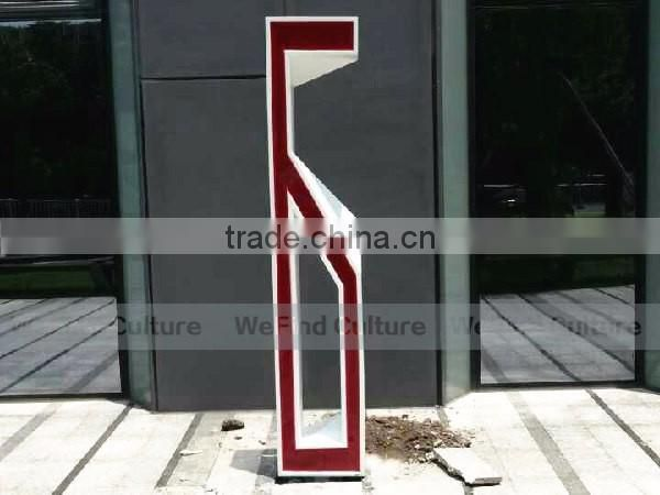 Large Lacquered Decorative Metal Brand Word Signs