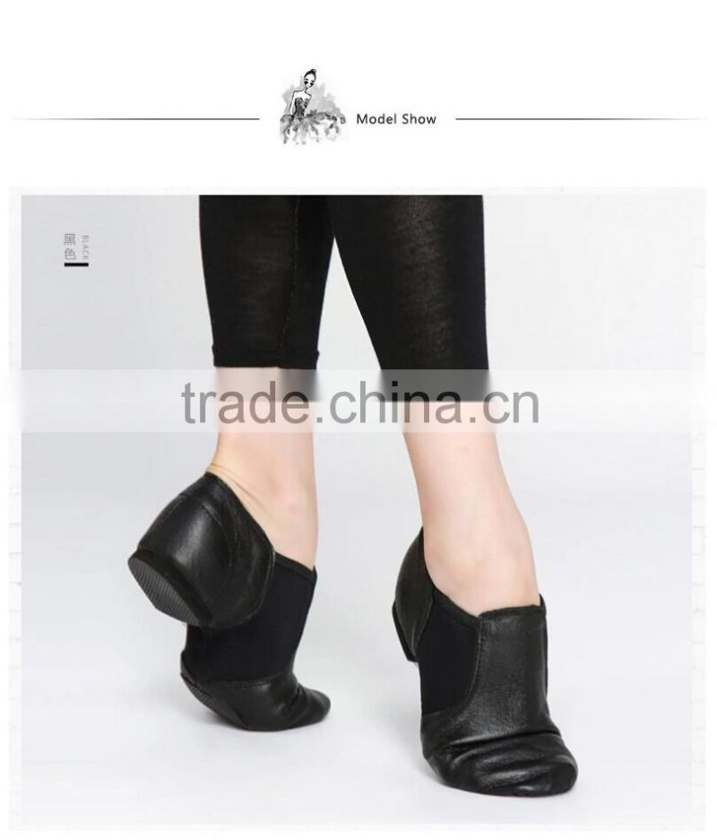 D004716 Soft leather for shoes jazz dance women lady shoes stock