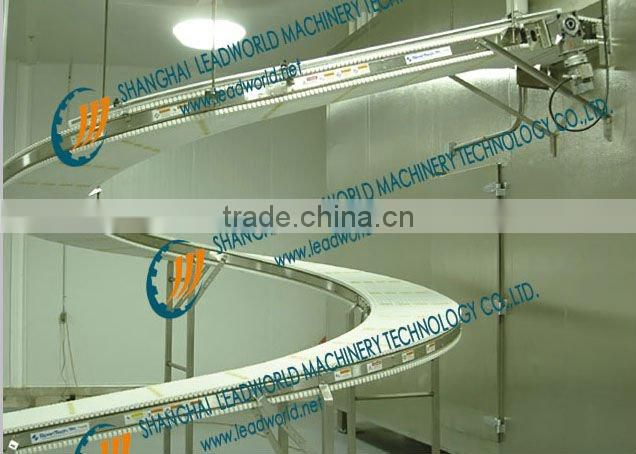 Screw Conveyor for Lifting System for Canned Food Inspection Line