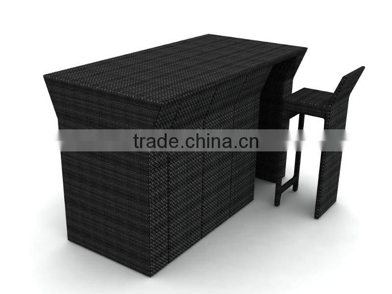 rattan bar table and chairs / leisure wicker furniture