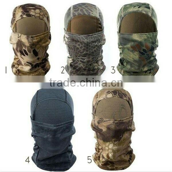 Fashion Hunting headcover 100% polyester fleece sport tactical military balaclava full face mask