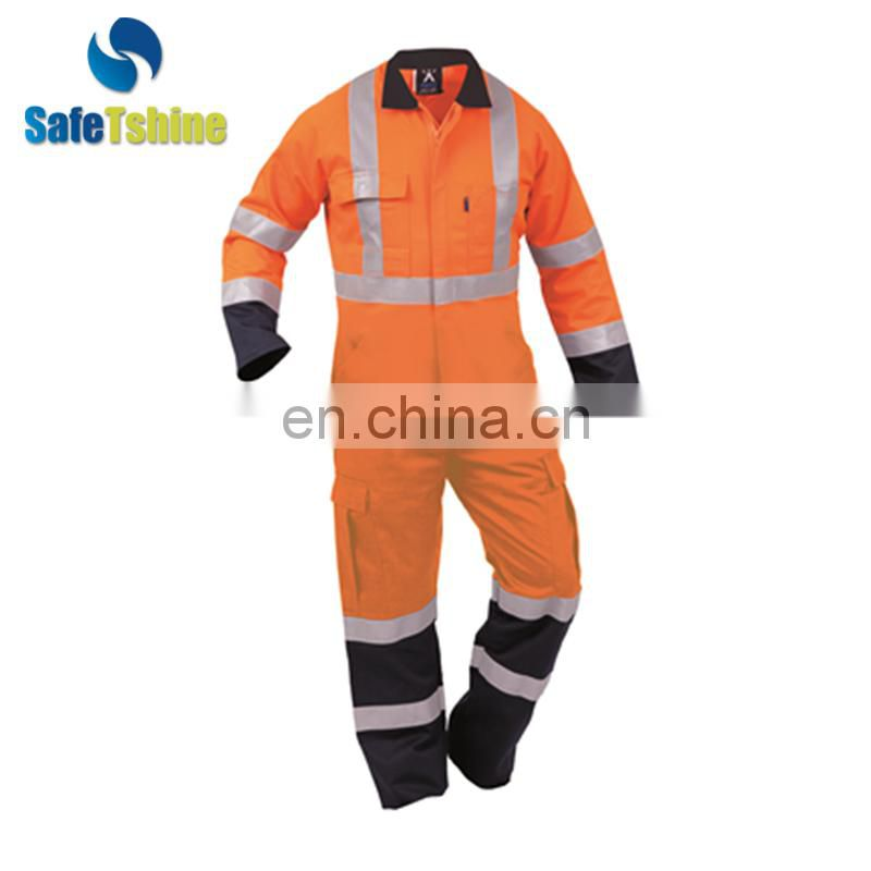 Cotton Industrial Safety Workwear Flame Retardant Coverall modacrylic