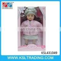 hot sale good design 14 inch pee baby doll for kids