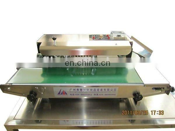 FR-900 Continuous bag band sealer machine automatic plastic bags band sealing machine