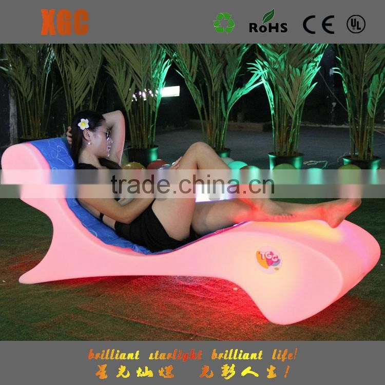 Cabin furniture for ships de China fabrica de muebles pool plastic stoel en tafel led swimming pool chair for event&party