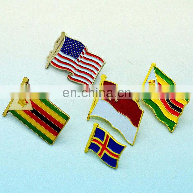 Factory supply country flags lapel pins