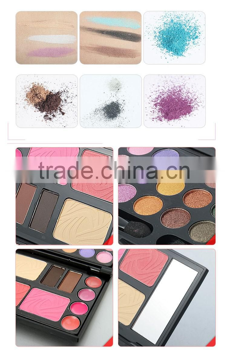 cool box 24 colors eyeshadow makeup set including blusher & face powder & lip gloss