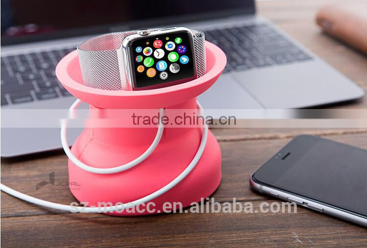 Soft bowl style silicone stand for Apple Watch,charging bowl for Apple Watch