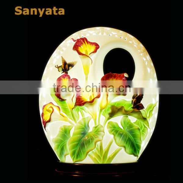 Beautiful home porcelain art decoration hand painted lamp