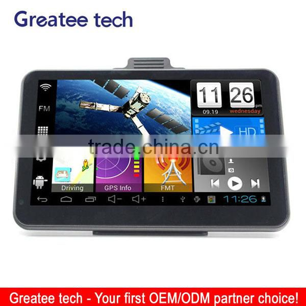 7.0 inch tablet Android s100 gps car navigation system dual carmera dvr recorder optional