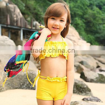 2014 girls shiny swimsuit, popular young girl swimsuit ...