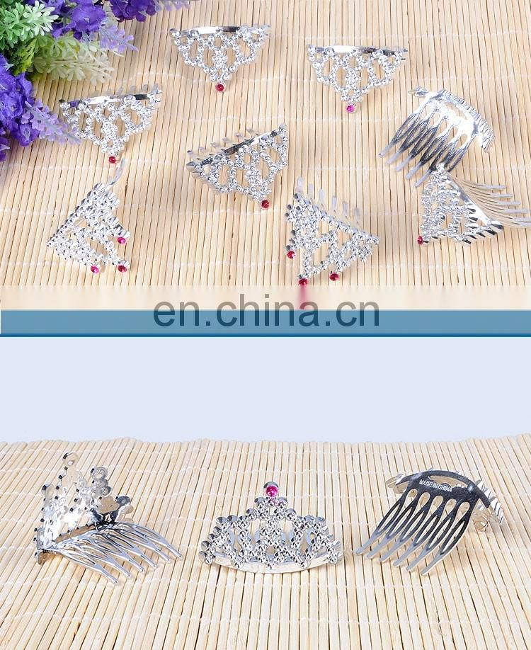 Newly hair clips mini little girl party favors tiaras