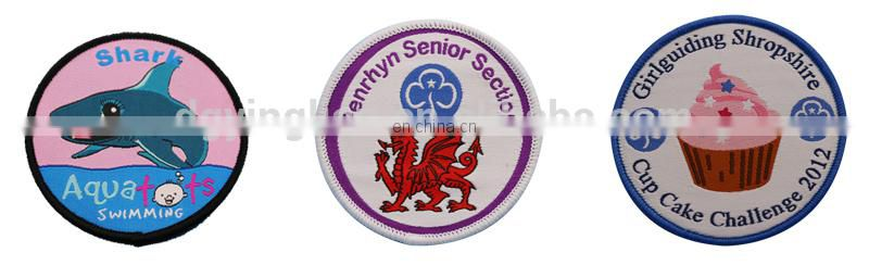 high definition merrow woven patch
