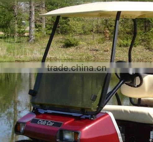 Golf Cart Part-Colored Anti UV Acrylic plastic Folded Club Car,E-Z-GO,Precedent Golf Carts Windshield