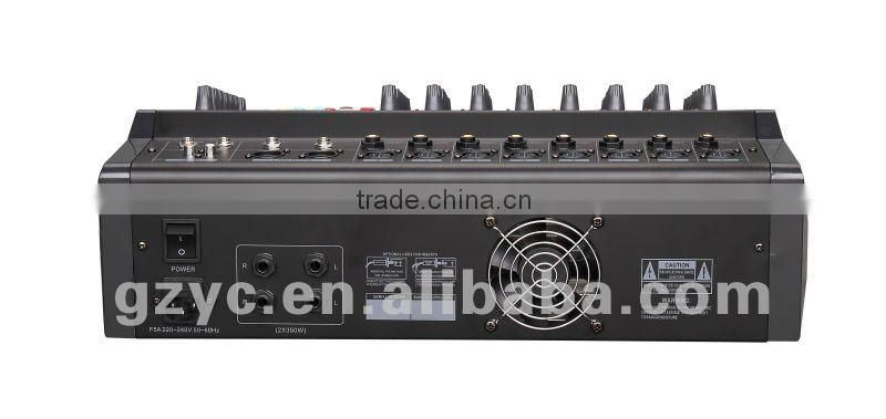 8 channel power mixer amplifier with usb