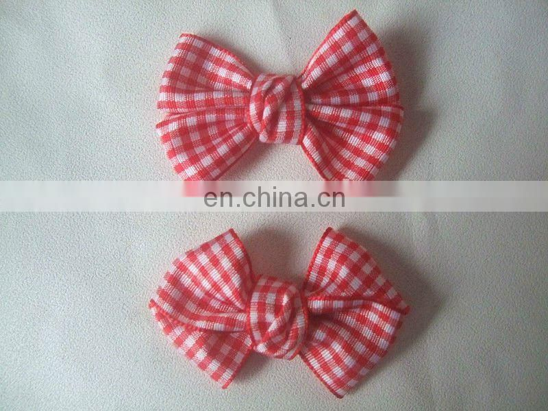 white bow tie for hair with spot
