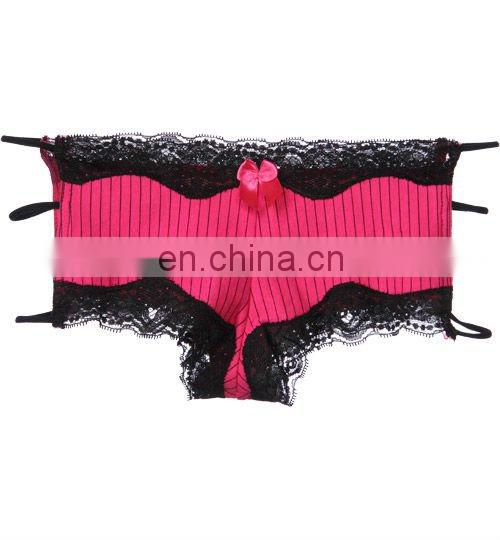 ladies colourful sexy brief with multi tape accept OEM