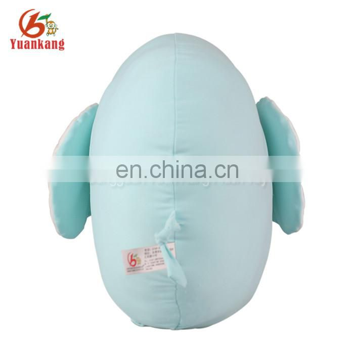 Wholesale custom design cheap stuffed soft cute Blue elephant microbead body pillow