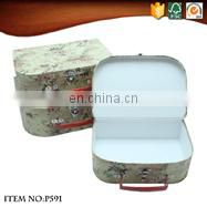 Cheap Old Fashioned Style Suitcases with London Pattern
