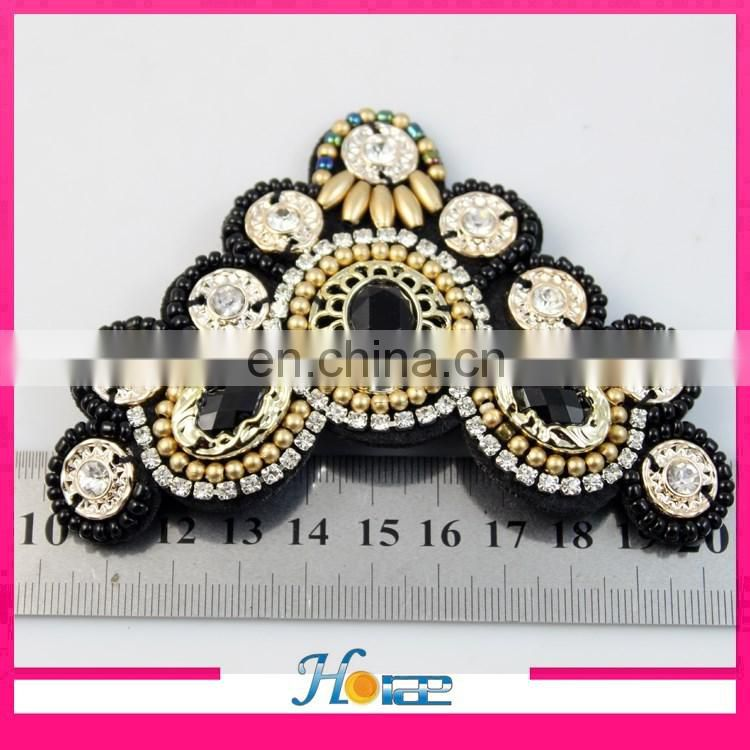 handmade fashion sandal upper decoration plastic beads accessories for ladies