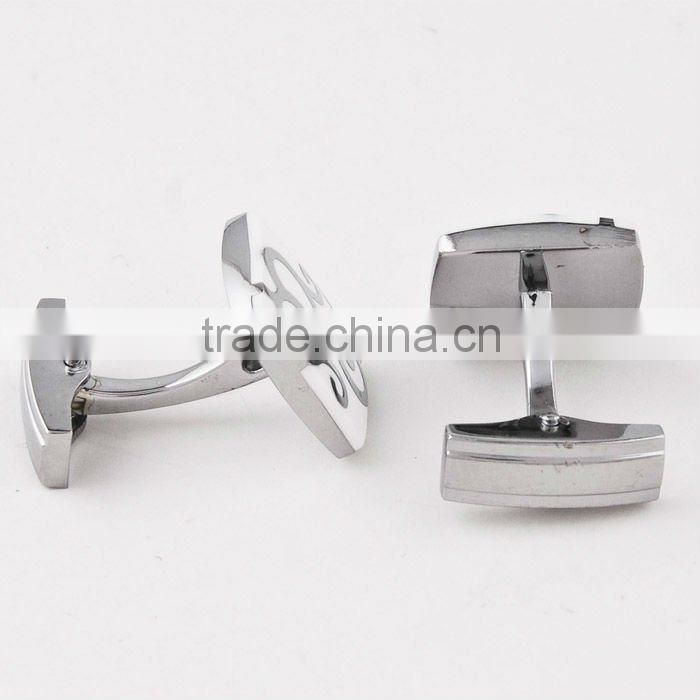 High quality men cufflink/Stainless steel cufflinks/crystal cufflink