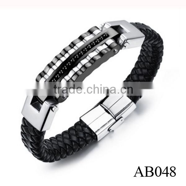 2016 Alibaba Wholesale 316l Stainless Steel Bracelet For Men With Gold Bead