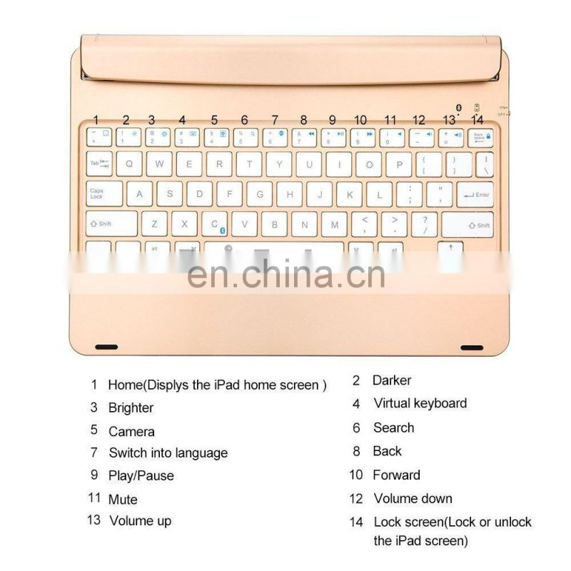 F17 Adsorption Bluetooth Keyboard Case for iPad Air 2 / iPad Pro 9.7 Keypad Cover