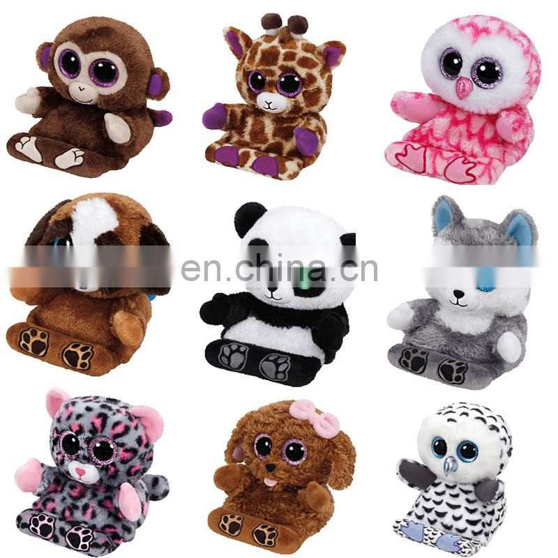 Custom Cute Lovely Stuffed Big Eyes Plush Animals Toy TY Beanie Boos