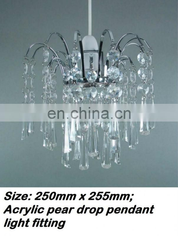 Polished Acrylic Prisms Chandelier