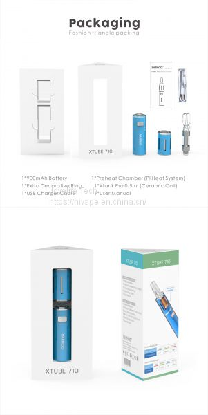 Wax Oil Vaporizer Vapmod Xtube 710 Cbd Ceramic Cartridge Variable