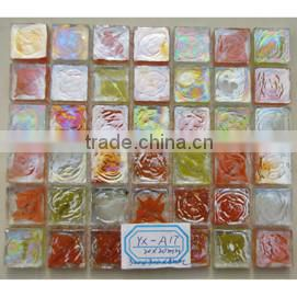 Hot sale stainless steel mix glass mosaic tile for kitchen backsplash
