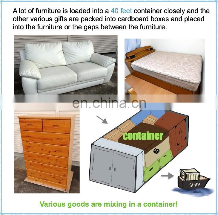 Comfortable Used Japanese Home Furniture/Shelves, Beds etc. by 40FT Container